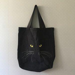 Vintage Cat Face Tote Bag
